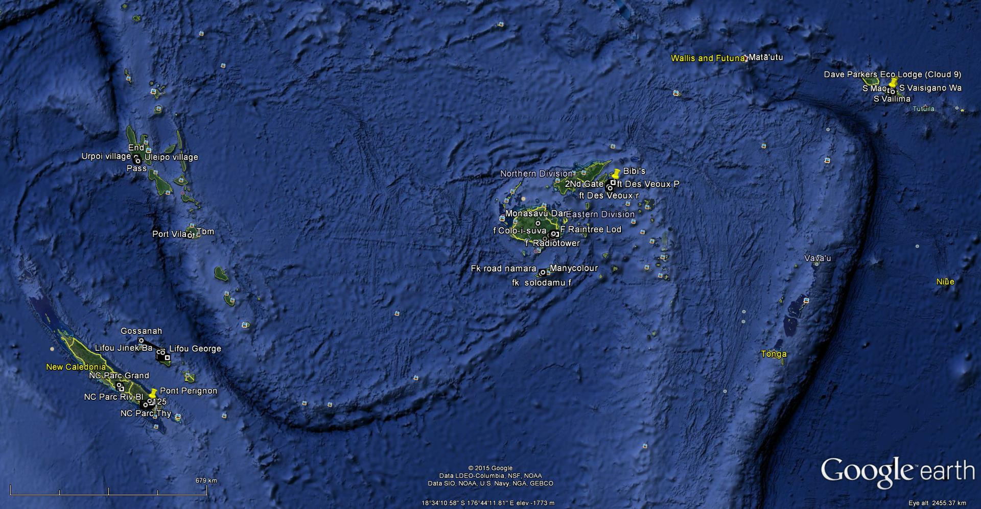 Pacfic - Where is vanuatu